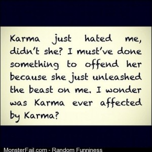 Read this on wattpad I found this rant about karma supremely quotes wth damn