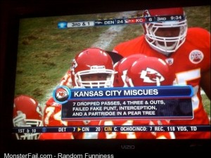On the first day of the chiefs gave to me