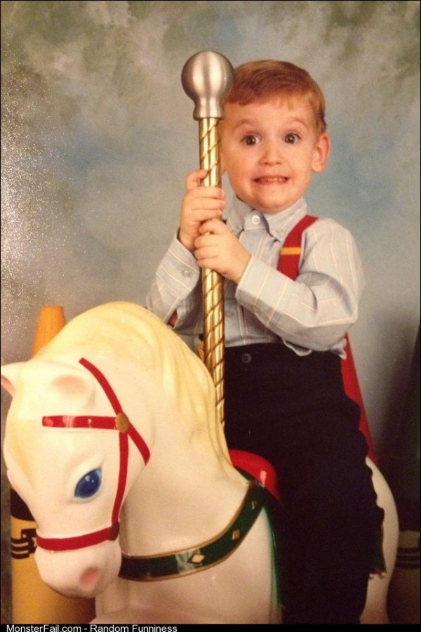 My roommate did not think this picture of him at age 3 is as hilarious as I do