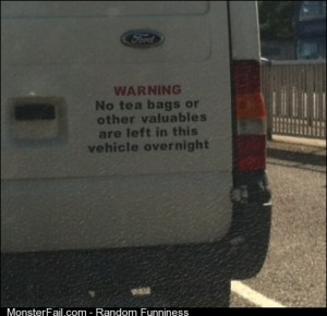 We take tea very seriously in the UK