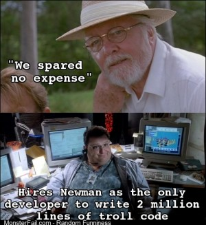 As a software engineer this was my thought while watching Jurassic Park