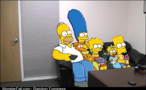 A couch gag that the Simpsons done