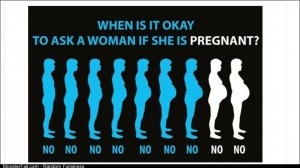 When it is ok to ask a women if she is pregnant