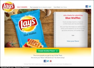 So is having a contest to create a new chip flavor
