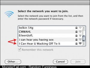 WiFi network name gold