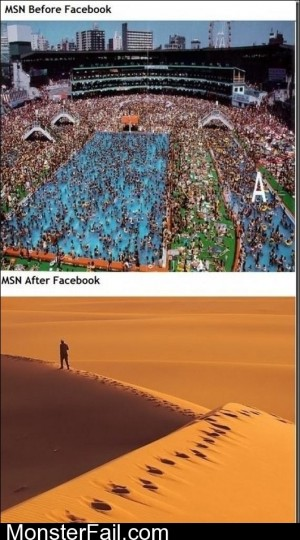 MSN Before And After Facebook