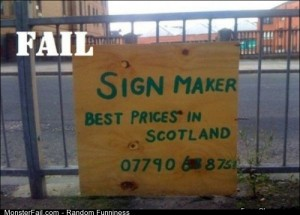 Fail sign Makers