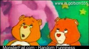 Care Bears fuck around
