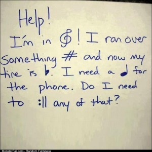 If you can read this thank your music teacher