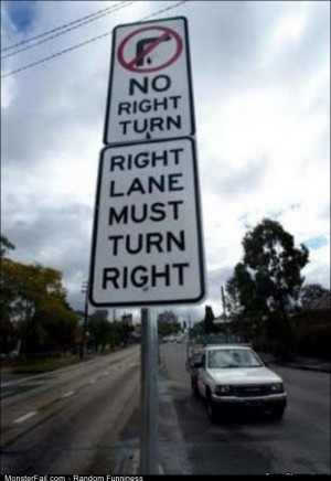Fail no Right Turn