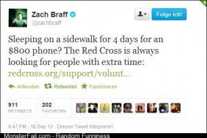 With this Zach Braff get the iPhone soon