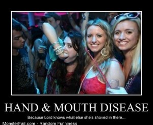 Funny Pics Hand And Mouth