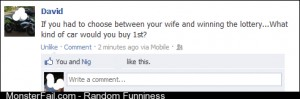 Choose between the wife or