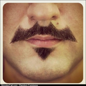 A friend of facebook just got this batman mustache style