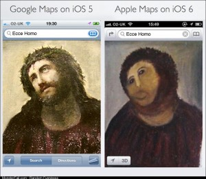 The between Google Maps and Apple Maps