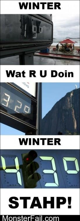 Stahp It Winter