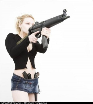 Funny Pics Girls With Guns 7