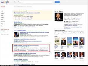 Just Googled Barack Obama