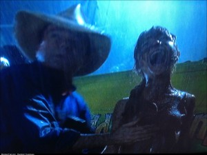 I paused Jurassic Park at a very awkward time