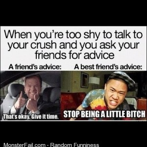 Regan Lia Shy Crush Friends Advise Time Bitch Funny