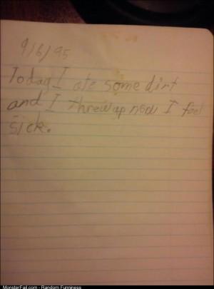 I found my old journal