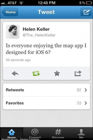 Helen Keller and iOS 6