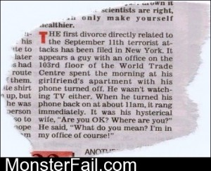The First Divorce After 911