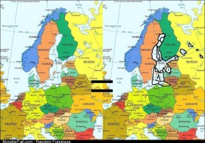 Just realized this after looking at a map of Europe