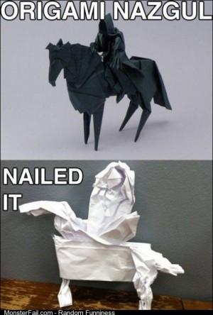 Origami Level Nailed it