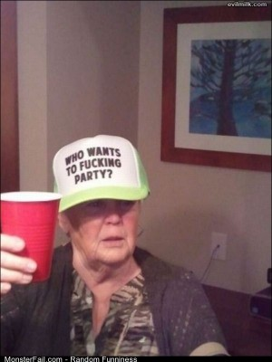 Funny Pics Party Grandma