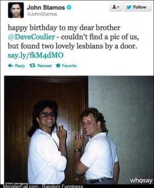 Two lesbians by a door