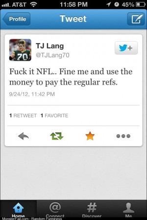I think TJ Lang has a good idea