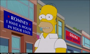 The Simpsons on the 2012 election