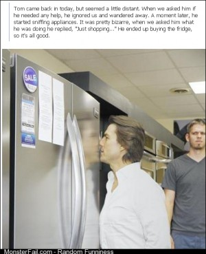 Tom Cruise buys a fridge