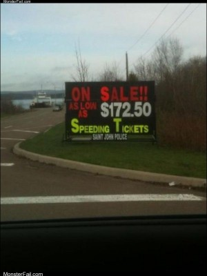 Speeding tickets for sale