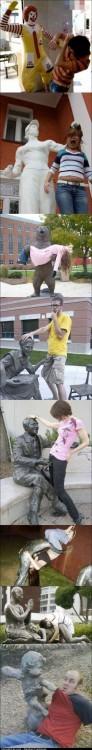 Funny Pics Statues