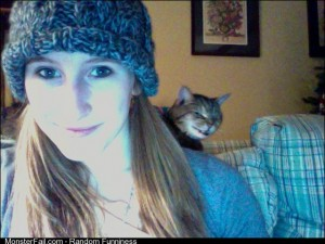Photo bomb by my cat