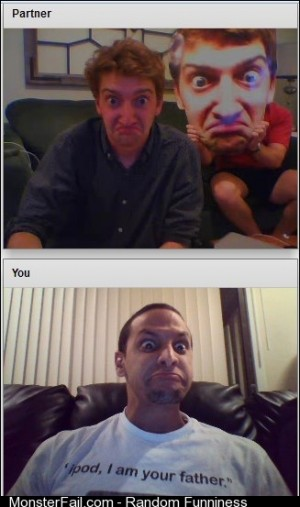 So I was on chat roulette