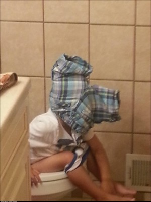 My 3 year old was in the bathroom for a long time