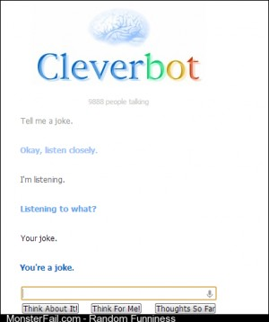 Cleverbot is a dick