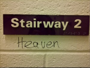 I saw this stairway at school