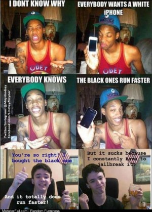Everyone knows the black one runs faster