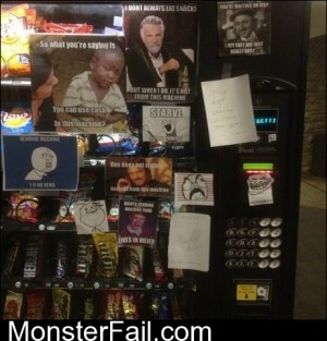 Broken Vending Machine Rage