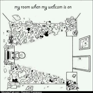 My room when my webcam is on