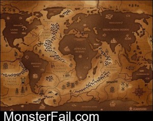 Opposite World Map