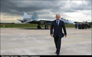 When Vladimir Putin is walking away from it looks like it ought to be exploding