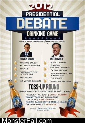 Debate Drinking Game