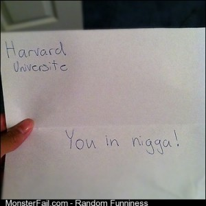 My Harvard letter So happy
