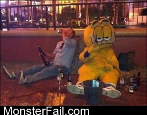 Garfield Hits Rock Bottom