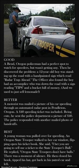 Trolling cops